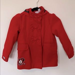 Disney Minnie Mouse Kids Girls Size 6 Jacket red